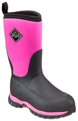 The Original Muck Boot Company Rugged II Winter Boots for Kids - Pink/Black - 1 M