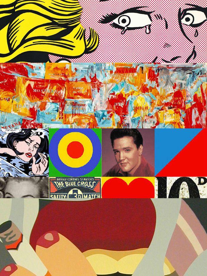 TOUCH это изображение: Рой Лихтенштейн «Плачущая девушка», Джаспер Джонс «Карта»... by Kronsky