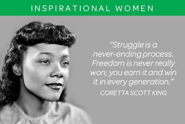 Coretta Scott King Was An American Author Activist And Civil Magnificent Coretta Scott King Quotes