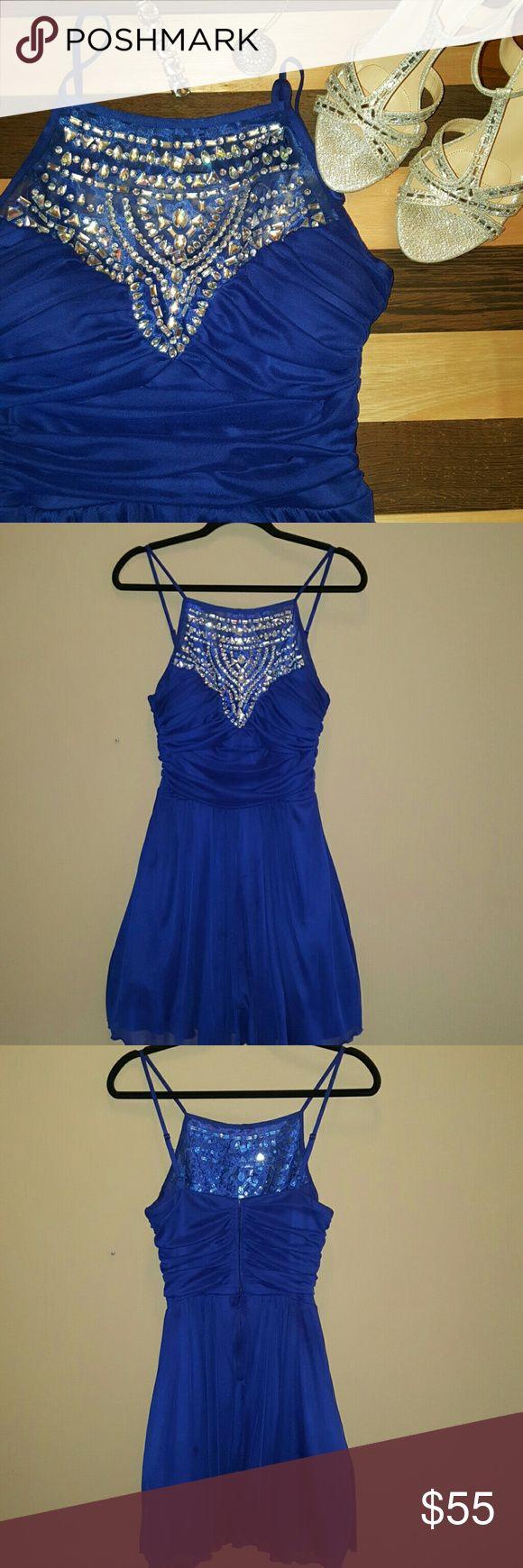 Weekend Sale Gorgeous Blue Dress worn one evening Gorgeous Blue Dress - Size 11/12 B Darlin Dresses Prom