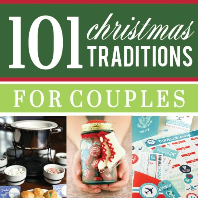 A collection of the best ideas for Christmas traditions to start with your spouse and family that you will look forward to each holiday season!