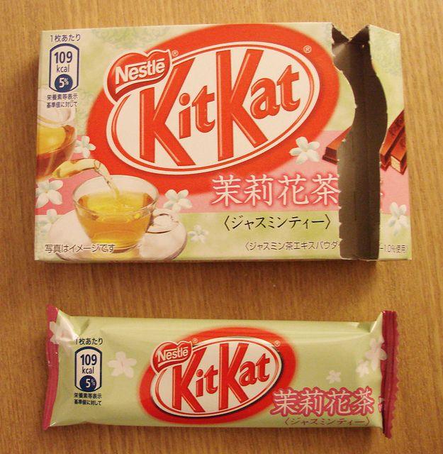 Jasmine & Green Tea Kit Kat - Japan by kalvin1974, via Flickr