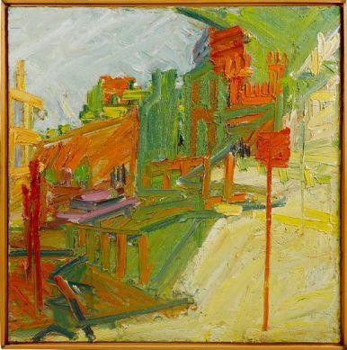 Frank Auerbach Looking towards Mornington Crescent Station. www.artexperiencenyc.com