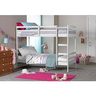 Buy Josie White Shorty Bunk Bed with 2 Elliott Mattresses at Argos.co.uk, visit Argos.co.uk to shop online for Children's beds, Children's beds