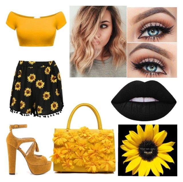 """Sunflower Babe #4"" by raineingboties on Polyvore featuring Mojo Moxy"