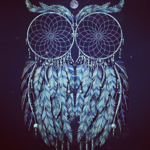 Owl dreamcatcher drawing - photo#3