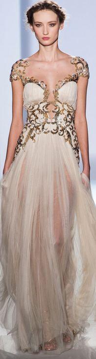 Vestidos de noiva dourados de Zuhair Murad                              …                                                                                                                                                     Mais