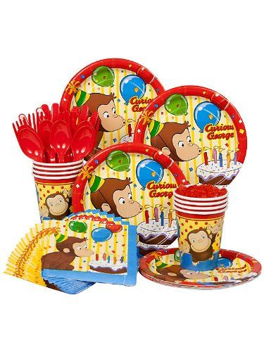 Curious George Birthday Standard Kit Serves 8 Guests Costume SuperCenter http://www.amazon.com/dp/B0091J51M8/ref=cm_sw_r_pi_dp_wb5Rtb0WZCBT4W5P
