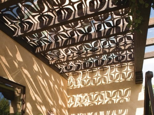 #Parasoleil panels for the patio cover, perhaps? Maybe alternating between solid and these, or just the edges of the cover to let in light in a fun way.