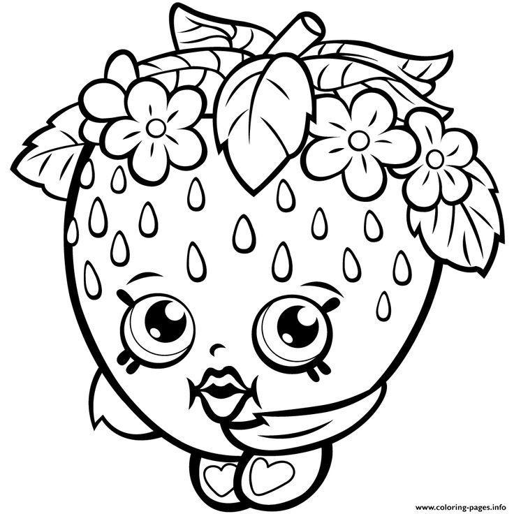 Kiss Season One Shopkins 1 Coloring Pages Free Printable