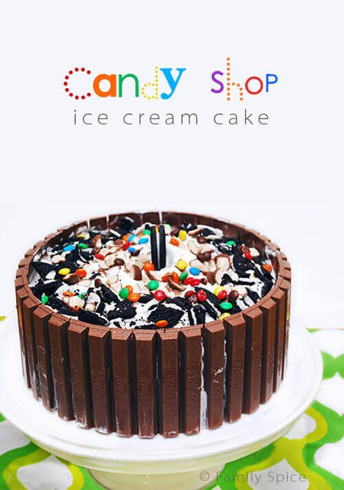 Whether for a birthday or a summer party, everyone will gaga over this Candy Shop Kit Kat Ice Cream Cake. Customize it with your favorite ice cream flavors!