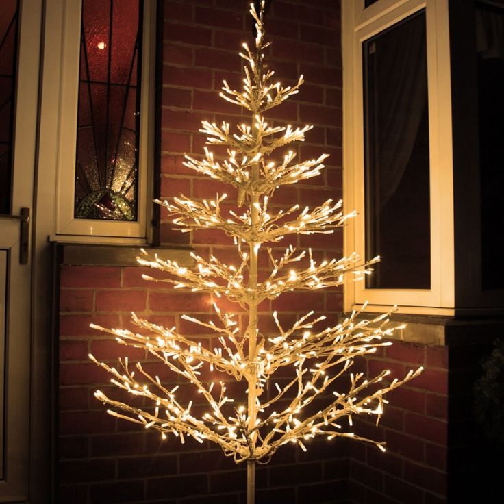 beautiful led tree 6ft outdoor branch tree with 640 warm white leds places to visit pinterest christmas lights and lights - White Outdoor Christmas Tree