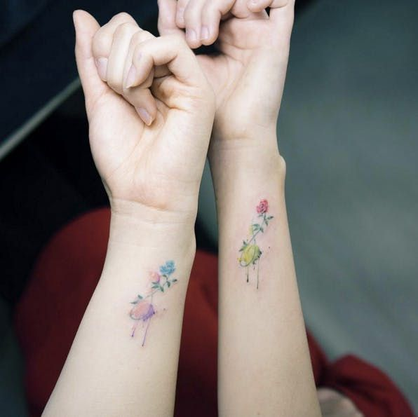 16 Best Friend Tattoos to Show Off Your Squad Love –  – #smalltattoos