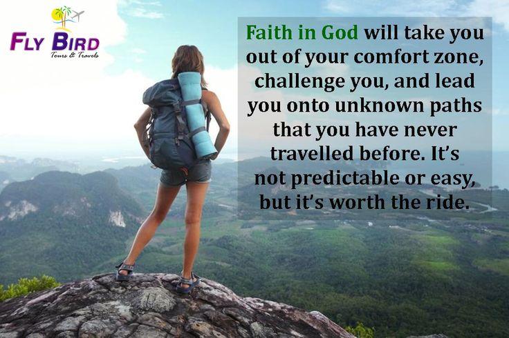 Have faith in God & Travel  #travel #flybird