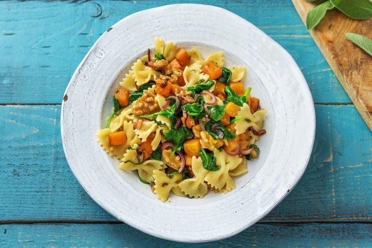 Pumpkin, Sage & Brown Butter Farfalle Recipe | HelloFresh