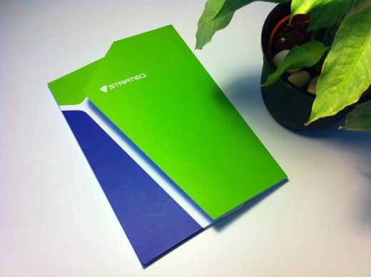 strateq corporate folder design
