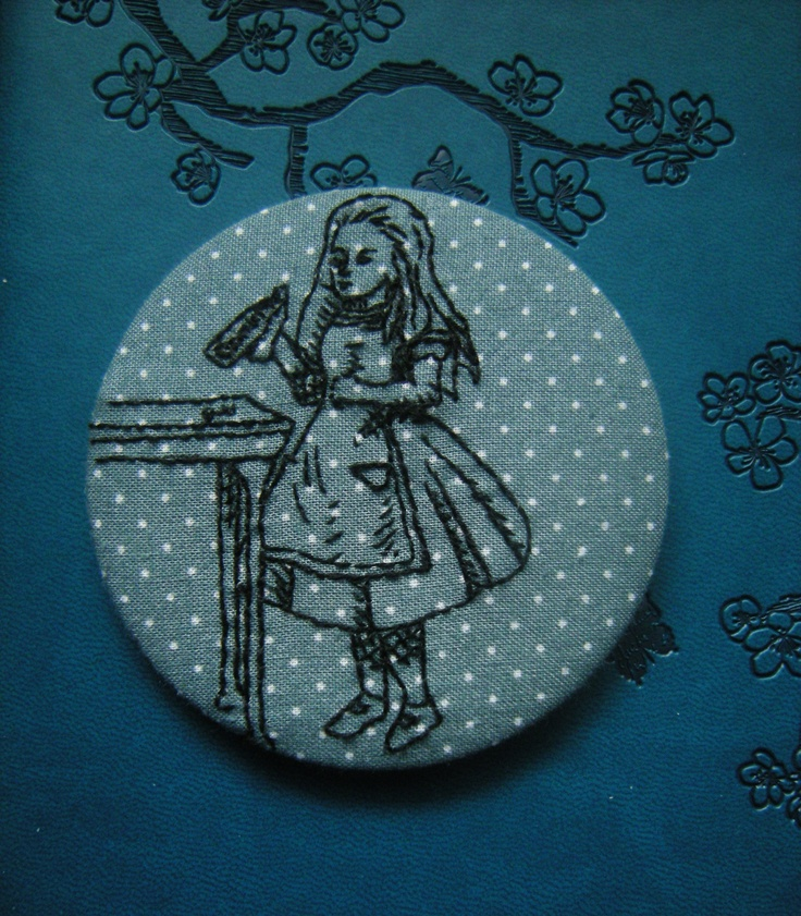 Drink Me Alice 3 inch round badge