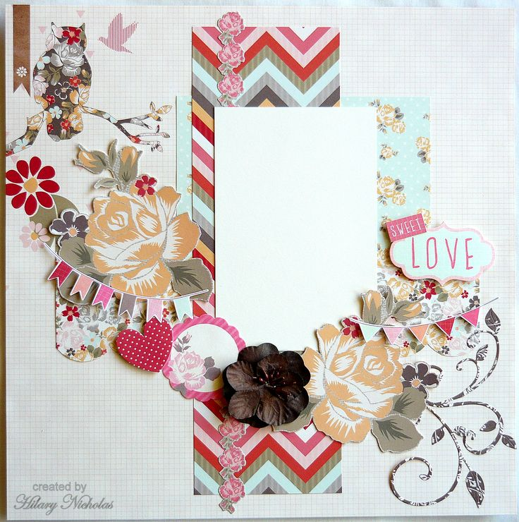 Layout Kit 2 with Kaisercraft Sweet Pea created by Hilary Nicholas