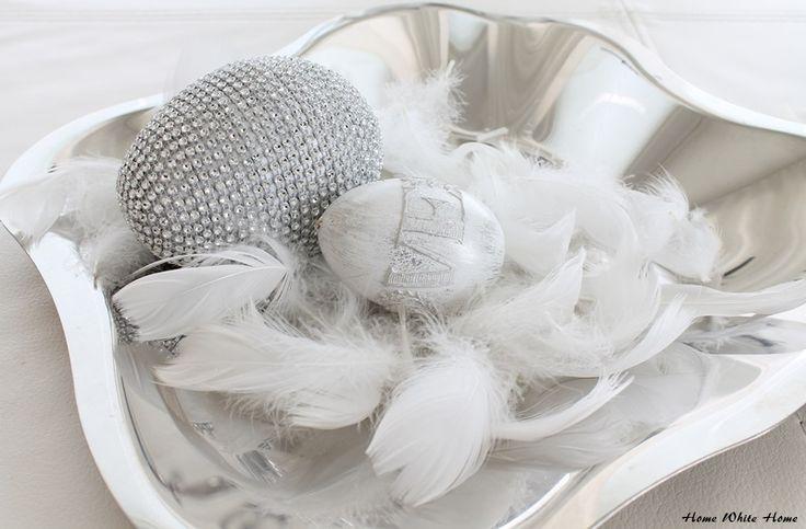 Silver easter eggs - Home White Home -blog