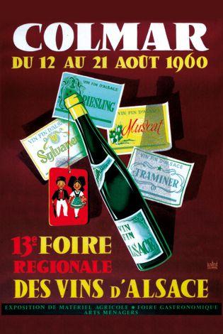 Affiche de la 13e Foire - Foire aux Vins, Colmar, Alsace (www.foire-colmar.com)