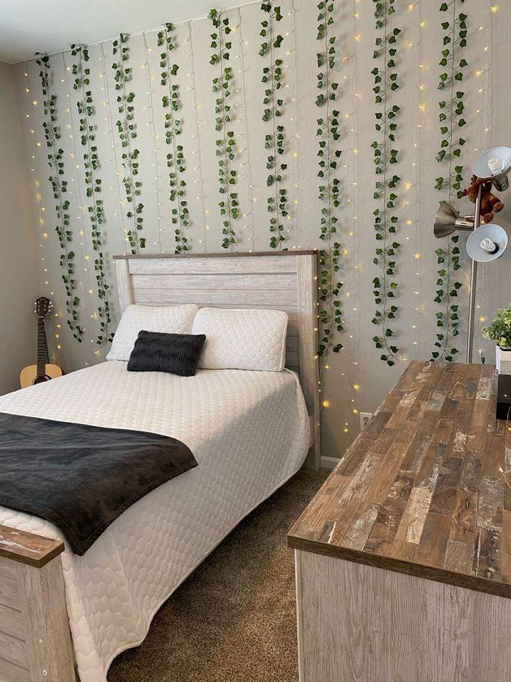 led wall vine lights in 2020 study room decor room ideas bedroom aesthetic bedroom on cute lights for bedroom decorating ideas id=72551