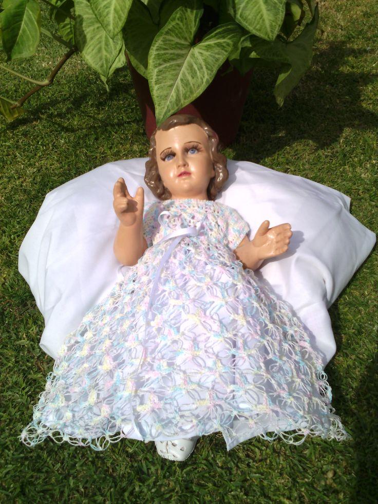 Crochet vestido ni o dios angelik pinterest for Agarraderas para ninos