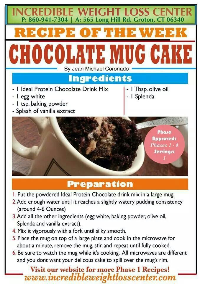 How To Bake A Mug Cake From Ideal Protein
