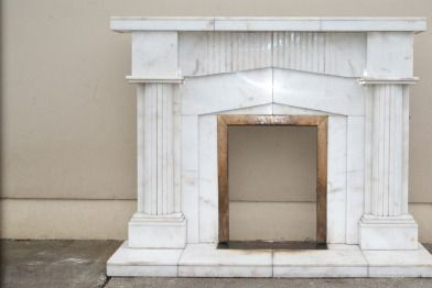 Fireplace For Sale - white marble fireplace for sale ,in excellent condition.  will accept €60. co...