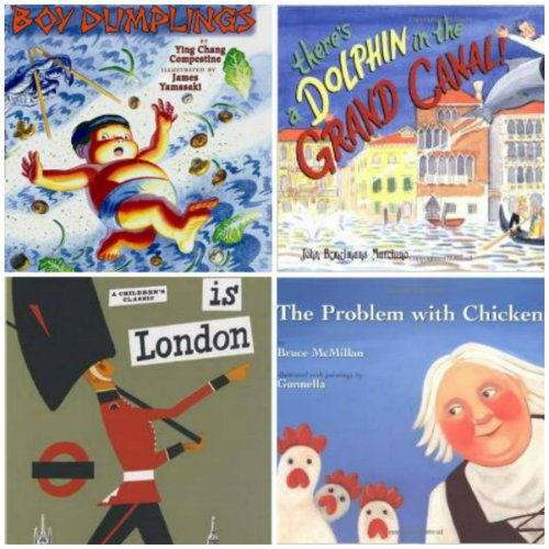 Around the world in 80+ books with picture books - Geography with culture and other fun built in!