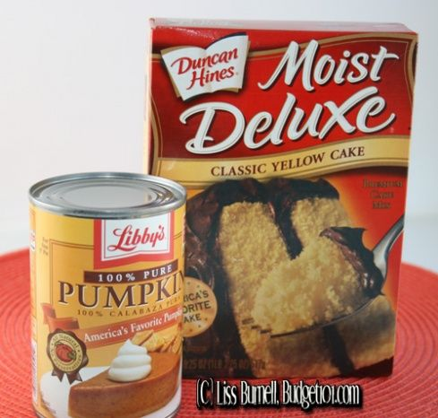 2 ingredient muffins i'm going to use spice cake instead of yellow! Yummmmmm!