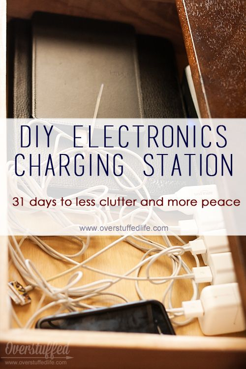 Turn a drawer into a charging station for your cell phones and other electronic devices. Easy project!
