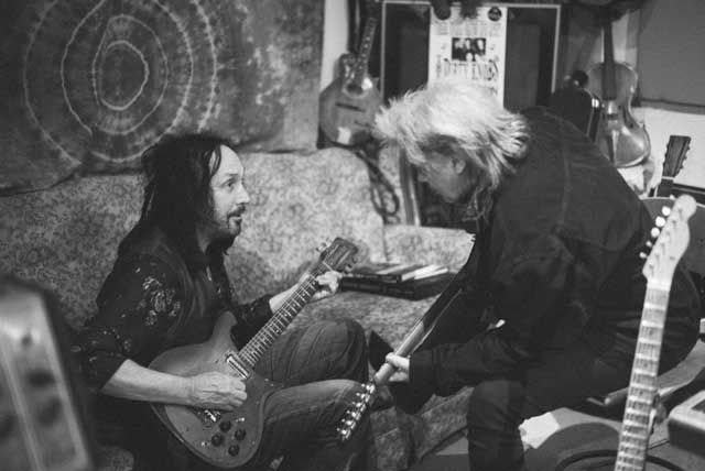 """Marty Stuart Talks 'Way Out West,' Clarence White's Tele and Life Lessons from Johnny Cash   Guitar World Mike's home studio is like guitar heaven. There were guitars, guitars, guitars, guitars. I think we went in there with an incredible array of guitars—there was a sitar and a 12-string that Mike had played on a lot of Tom Petty's hits. The 12-string is on a song called """"Time Don't Wait."""" So there were a couple of guest guitars courtesy of Mr. Mike Campbell."""