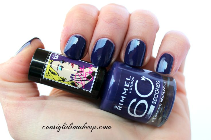 Consigli di Makeup: NOTD: 613 Midnight Rendezvous - Rimmel 60 Seconds