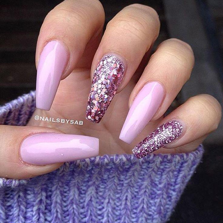25 best ideas about pink sparkle nails on pinterest