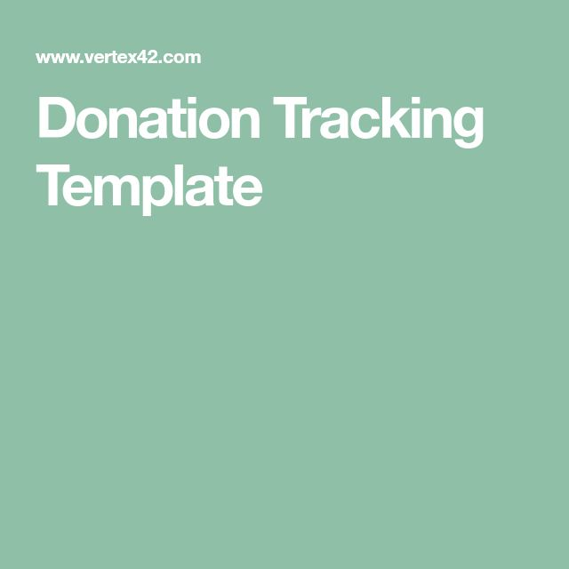 Donation Tracking Template