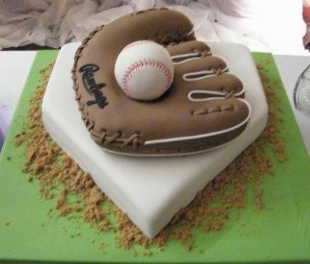 Lighted Personalized Baseball Softball Glove Cake Top Style # 108