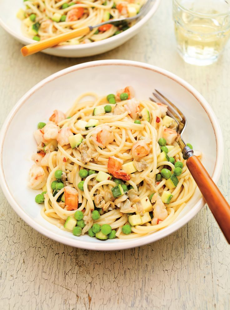 Recette de spaghettis aux fruits de mer de Ricardo