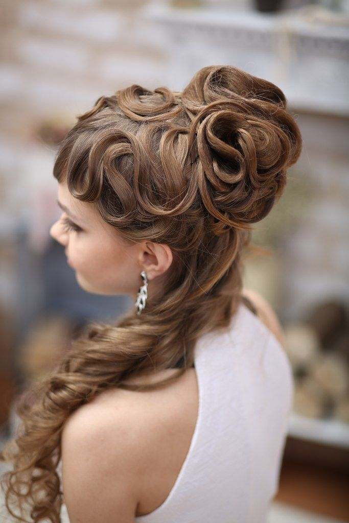 Elegant Curly Hairstyle For Long Hair Hairstyles