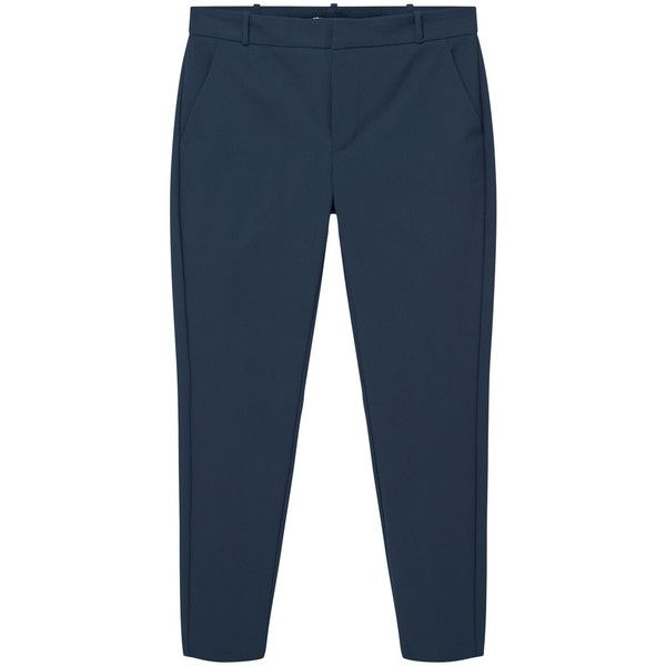 Straight Trousers ($39) ❤ liked on Polyvore featuring pants, zip pants, straight pants, mango pants, mango trousers and zipper pants