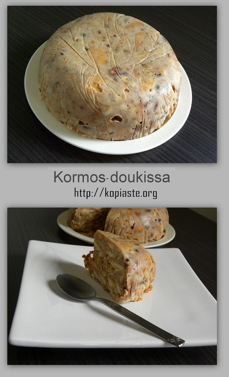 An easy recipe for #kormos #doukissa #salami #mosaiko  a no bake dessert with…