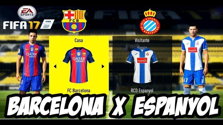FIFA17 Barcelona X Espanyol Campeonato Espanhol│MODO LENDÁRIO(Português ...