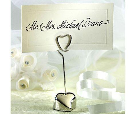 Loving Heart Place Card Holder Wedding Favor