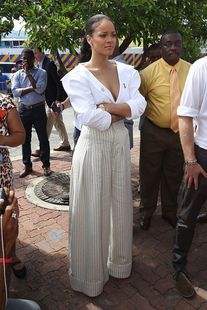 Rihanna Wore Some Very Chic But Different Outfits to Hang With Prince Harry