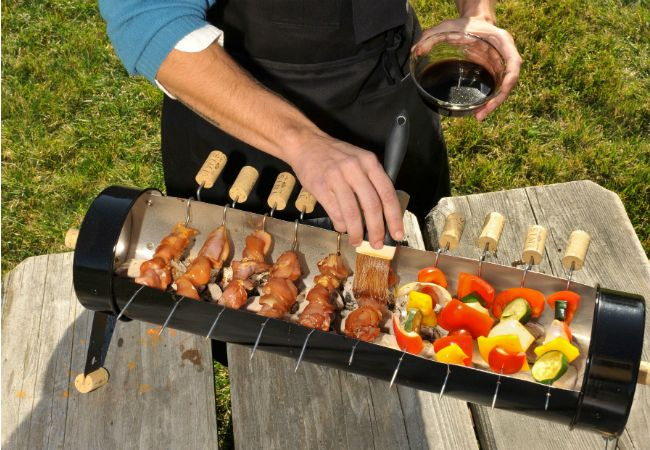 Cool DIY grill for skewers
