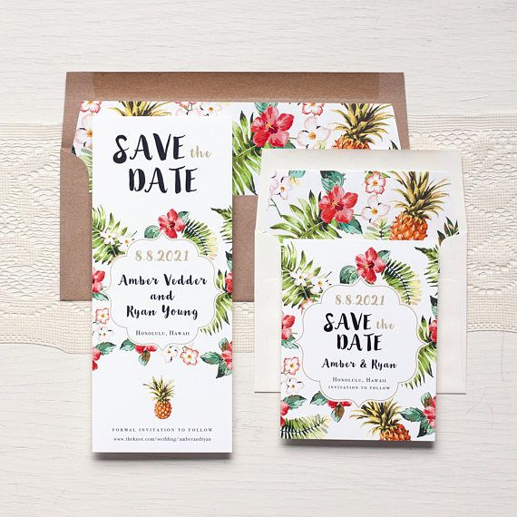 Pinele Paradise Save The Dates