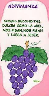 adivinanzas para niños de inicial - La uva.