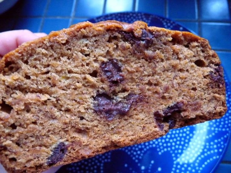 Running on Lentils: Lower Fat Chocolate Chip Banana Bread