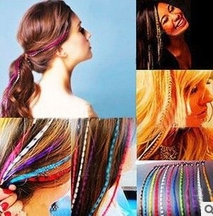 How Looks Beauty Using Feather Hair Extension