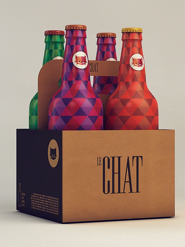 One of our most popular #beer #packaging pins. Le Chat by Isabela Rodrigues, via Behance PD