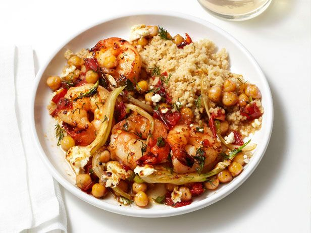 Greek Shrimp and Couscous Recipe : Food Network Kitchen : Food Network - FoodNetwork.com